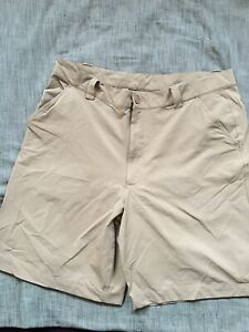 Under Armour Mens Size 36 Tan Shorts Stretch Band