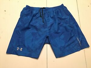 Under Armour Fitted Running Shorts Womens Large Blue Athletic