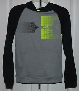Under Armour 1318220 - 035 Boys Large BlackGray Pullover Hoodie NWT MSRP $40