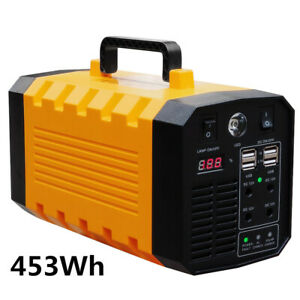 453Wh Lithium Portable Station 500W Outdoor Camping Energy Storage Bank Supply