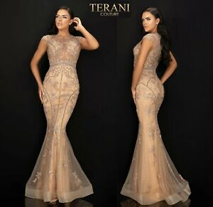 TERANI COUTURE 2011GL2224 authentic dress. 2020 COLLECTION ! MANY SIZ