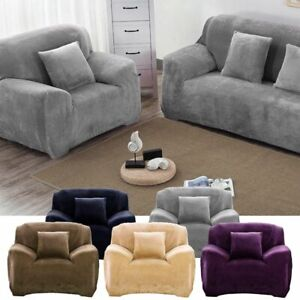 1 4 Seaters Universal Sofa Funda Couch Cover Stretch Slipcover Easy Instal Plush