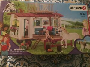 Scleich Horse Club 42415 Meeting Place or Camping Trailer w Balcony NEW In Box!