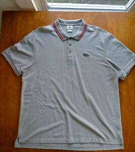 Pre-owned Men's Lacoste Sport Polo Shirt Size 8 (XXXL) Gray Red Clean Excellent