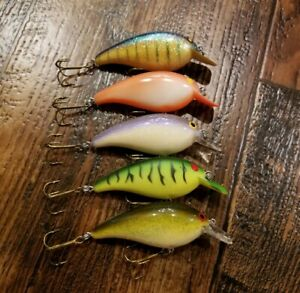(5) Norman Little N crankbaits Lot of 5 Fishing Lures
