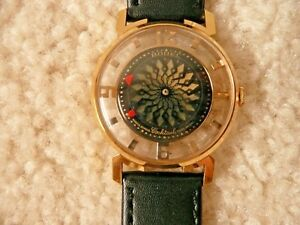 VINTAGE  ERNEST BOREL kaleidoscope cocktail watch unisex