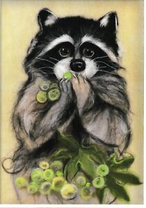 quot;Raccoonquot; Painting with wool kit WA 0136 $23.98