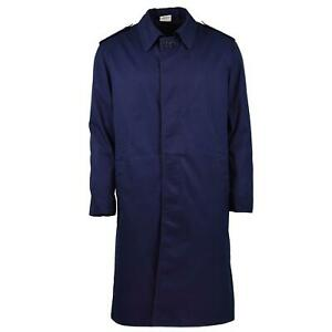 Genuine French Military Rain Coat Army Air Force Trench coat Blue Waterproof $37.78