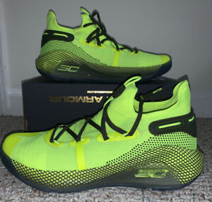 Under Armour UA Curry 6 Coy Fish SZ 10.5 Yellow Basketball Shoes Rare Limited*