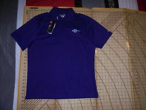 MENS LARGE PURPLE UNDER ARMOUR ROBSON RANCH POLO SHIRT NWT $28.00
