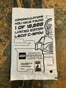 LEGO STAR WARS CHROME GOLD C-3PO 4521221 1 OF 10000 NEW EUROPEAN  VERSION RARE!
