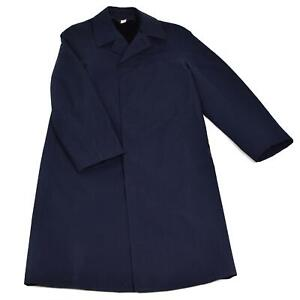 Genuine French Military Blue Coat Army Trench coat Full Length Winter Lining NEW $44.75