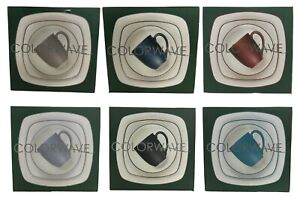 Noritake Dishes Colorwave 4 Piece Square Place Setting Dish Plate Set $39.99