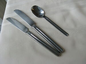 Excel Stainless EXF17 Divided Handle Center Groove / Teaspoon  & Knives  3 Pcs