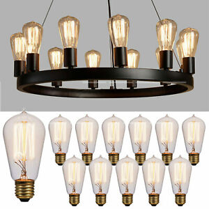 12 Pack Value Vintage Edison Bulb 60 Watt Showroom Quality Incandescent Antique
