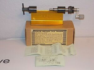 Forster Precision Case Trimmer with Original Box & Instructions - FREE SHIPPING!