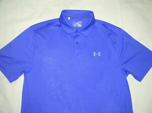 Mens UNDER ARMOUR Polo ShirtSmallPurpleHEAT GEARSport TopEx CondWorkout