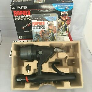 PS3 Rapala Pro Fishing Pole Rod with Video Game and USB Dongle! Ships Fast!