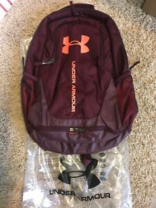 Under Armour Storm Hustle 3.0 Backpack Maroon Red New Still in Bag