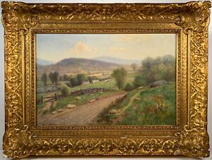 Listed Artist Daniel Folger Bigelow (1823-1910) Signed Oil On Canvas Painting