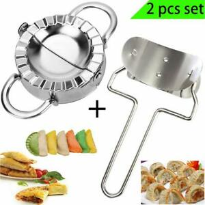 Dumpling Maker Mould Stainless Steel Flour Ring Cutter Set Kitchen Pastry Tool