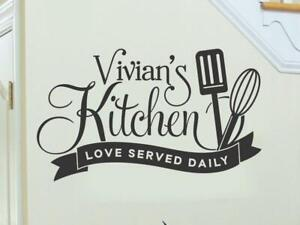 Kitchen Wall Decal Rustic Kitchen Love Served Daily Quotes Vinyl Wall Decals