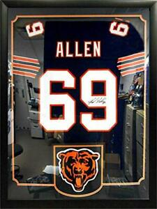 Jared Allen Chicago Bears Autographed Jersey Matted in a Premium