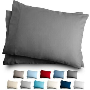Flannel Pillowcase Set 100% Cotton Velvety Soft Heavyweight Double Brushed $14.99
