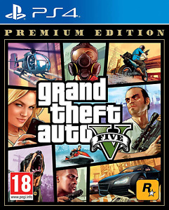 Grand Theft Auto V Premium Edition PS4 Sony PlayStation 4, 2013 Brand New