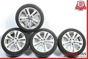 08-15 Mercedes W204 C250 C350 Complete Front & Rear Wheel Tire Rim Set R17 OEM