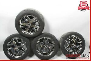 00-06 Mercedes W215 CL500 S500 Complete Front & Rear Wheel Tire Rim Set R17 OEM