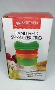 Gia's Kitchen Hand Held Spiralizer-pasta , to beet salad, to apple chips!!