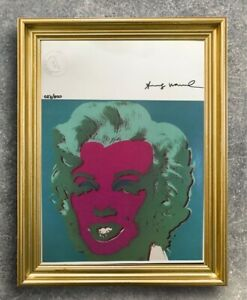 Andy Warhol - Marilyn Monroe - Original Hand Signed print from 1986 with COA