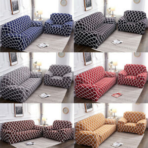 Stretch Chair Loveseat L Shape Sofa Covers 1 2 3 4 Seater Couch Cover Slipcover