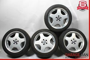 Mercedes W215 CL500 S55 AMG Sport Complete Wheel Tire Rim Set Staggered R18