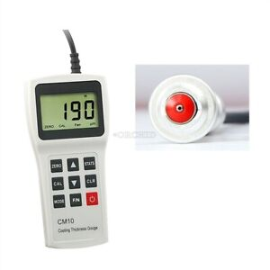 Yushi Lcd Digital CM10FN Coating Thickness Gauge Magnetic Non Magnetic Meter sw $615.29
