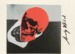 ANDY WARHOL AUTHENTIC HAND SIGNED SIGNATURE * SKULL *  PRINT