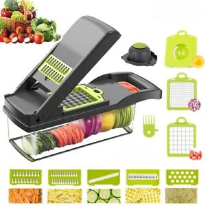 12 in 1 Vegetable Chopper Spiralizer Mandolin Slicer Grater with Container