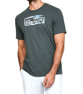 Under Armour UA Fish Inline Camo Men's HeatGear® Cotton Gray Hydro T Shirt $24.00