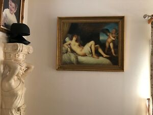19TH CENTURY ANTIQUE OIL PAINTING Nude DIANA $1400.00