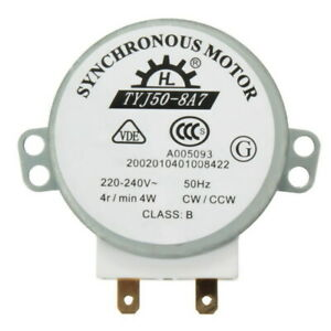1 pcs  AC 220V-240V 50Hz CW/CCW Microwave Turntable Turn Table Synchronous Mo…