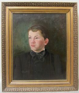 19th Century Early American European ? Master Portrait Young Boy Victorian Child
