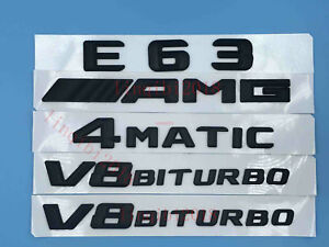 E63 AMG 4 MATIC BITURBO Letters Trunk Embl Badge Sticker for Mercedes Benz #1