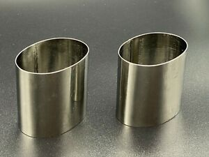 2 New Tall Oval Stainless Steel Mold Individual Food Mold Cake Ring