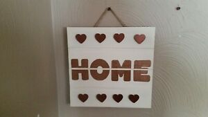HOME sign, wooden 10