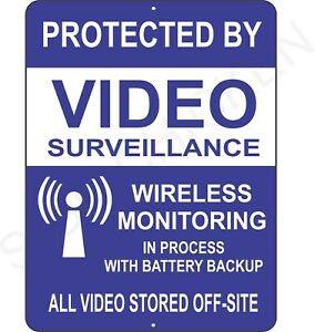 Surveillance signs Warning Security cctv sign Audio Video Camera ,