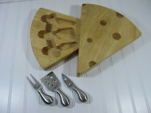 Legacy by Picnic Time The Swiss Cheese Cutting Board Set Board and Cutting Tools