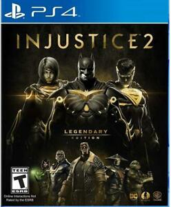 Injustice 2 Legendary Edition PS4 Sony PlayStation 4, 2017 Brand New