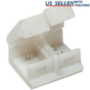 10x 8mm 2-pin Solderless Clip-on Coupler for Waterproof 3528 LED Strip Light