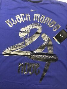 NIKE DRI FIT Kobe Bryant 24 Snake T Shirt MENS Large Lakers Black Mamba BLue 🔥 $284.99